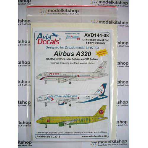 Selling model kit's decals civilian airlines Russian