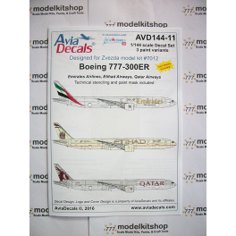 Avia Decals - Boeing 777-300ER Arab carriers