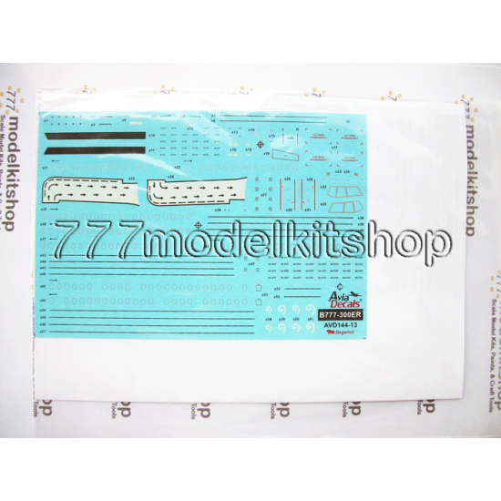 Avia Decals - Boeing 777-300ER Technical stenciling decals and paint masks