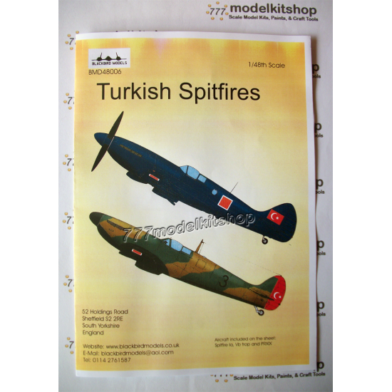 Blackbird - Turkish Spitfires 1/48 scale