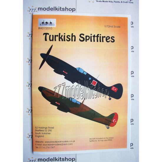 Blackbird - Turkish Spitfires 1/72 scale
