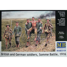 MB - British and German soldiers, Somme Battle, 1916