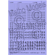 Matho Models Decal Numbers - Small, Black, Type 1