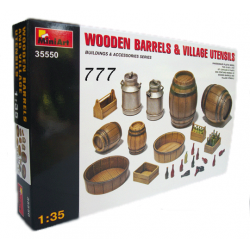 MiniArt Wooden Barrels & Village Utensils